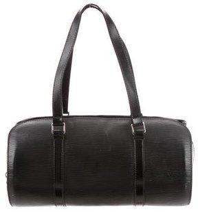 Louis Vuitton Epi Soufflot Bag w/ Pouch - BLACK - STYLE