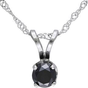 Black Diamond FINE JEWELRY 1/3 CT. T.W. Round Color-Enhanced Pendant Necklace