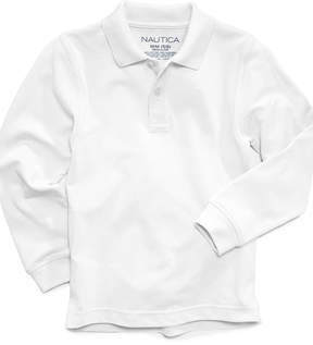 Nautica Long-Sleeve School Uniform Polo, Big Boys (8-20)