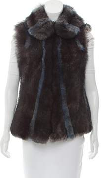 Callens Leather Trimmed Shearling Vest