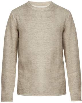 Saturdays NYC Alek ribbed linen-blend sweatshirt