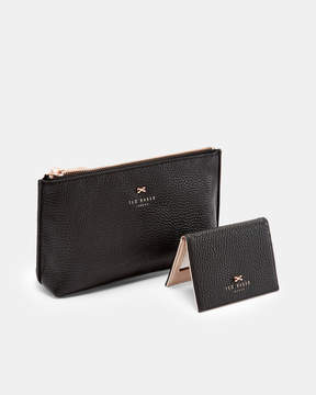 Ted Baker FABIANA Leather wash bag and mirror set