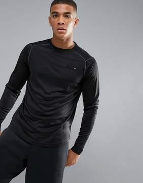 Ellesse Sport Long Sleeve T-Shirt With Panel Logo In Black