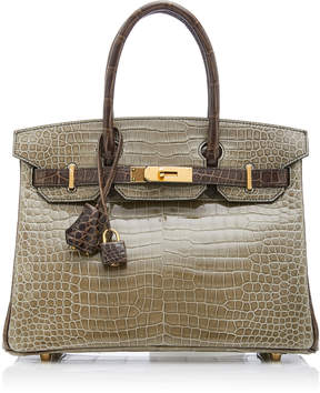 ea36b2f6f5 ... Hermes Vintage by Heritage Auctions 30cm Gris Elephant and Gris  Tourterelle Crocodile Birkin