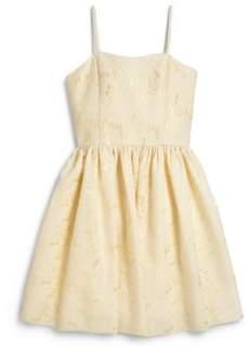Un Deux Trois Girl's Brocade Dress