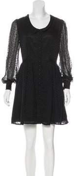 Erin Fetherston Chiffon Swiss Dot Dress