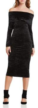 BCBGeneration Womens Velveg Long Sleeves Casual Dress