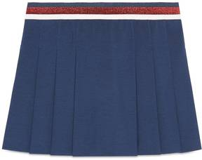 Gucci Children's jersey pleated skirt with Sylvie Web