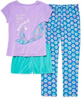 Arizona 3pc.Mermaid Tail Pajama Set Big Girl & Plus