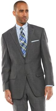 Chaps Men's Black Label Classic-Fit Charcoal (Grey) Wool-Blend Stretch Suit Jacket