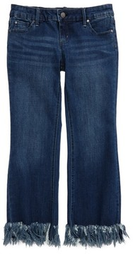 Tractr Girl's Frayed Hem Crop Jeans