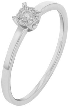 Damiani Bliss 18K White Gold & 0.08 ct Diamonds Engagement Ring