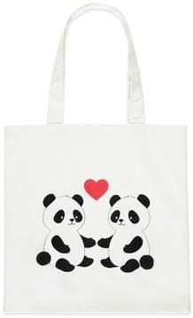 Forever 21 Panda Heart Graphic Tote Bag