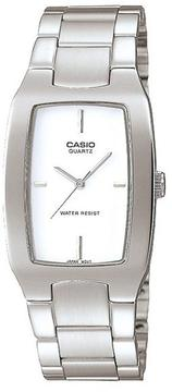 Casio Quartz MTP-1165A-7C Men's Rectangle Silver Stainless Steel Watch