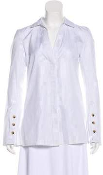 Brochu Walker Pinstripe Button-Up Top