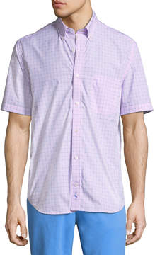 Tailorbyrd Casual-Fit Grid-Print Sport Shirt