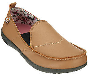 Spenco Orthotic Leather Slip-on Shoes - Siesta