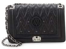 Mario Valentino Alice D Embellished Leather Shoulder Bag