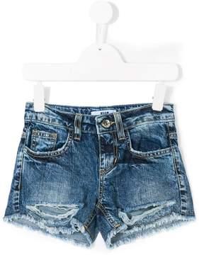 MSGM distressed denim shorts
