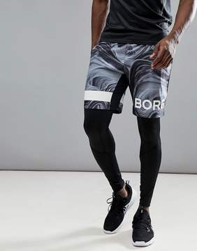 Bjorn Borg Performance Shorts With Logo In Print