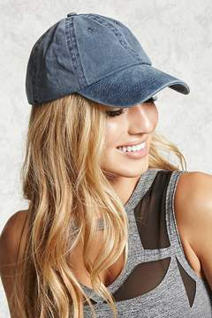 FOREVER 21 Faded Denim Baseball Cap