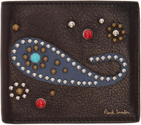 Paul Smith Black Paisley Bifold Wallet
