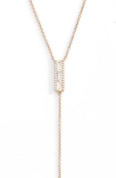 Ef Collection Women's Diamond & Topaz Baguette Bar Y-Necklace