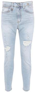 R 13 'Down' slim fit ripped jeans