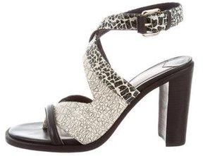 Derek Lam 10 Crosby Embossed Crossover Sandals