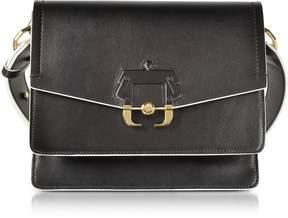 Paula Cademartori Black Leather Twiggy Shoulder Bag
