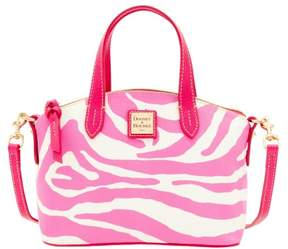 Dooney & Bourke Zebra Brights Ruby Top Handle Bag - WHITE PINK - STYLE