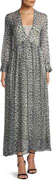 Forte Forte Savage Vanity Deep V-Neck Silk Maxi Dress