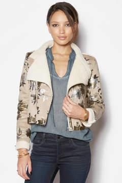 Goldie Metallic Painted Sherpa Drape Jacket