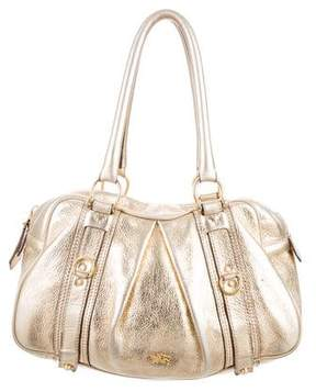 Burberry Metallic Pleated Shoulder Bag - GOLD - STYLE
