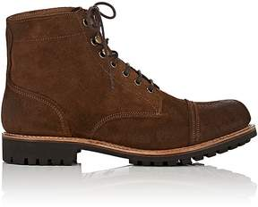 Grenson MEN'S RADLEY BURNISHED SUEDE BOOTS
