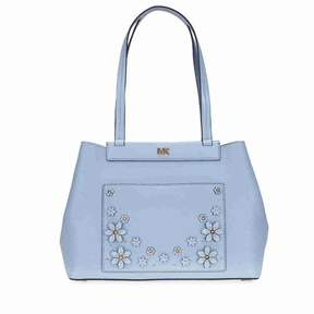 Michael Kors Meredith Medium East West Bonded Tote- Pale Blue - BLUE - STYLE