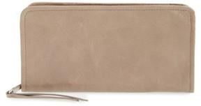 Hobo Women's Remi Calfskin Leather Zip-Around Wallet - Grey