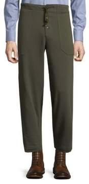 Dries Van Noten Drawstring Cotton Pants