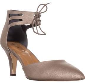 Style&Co. Sc35 Vanaa Ankle Strap Pumps, Flint.
