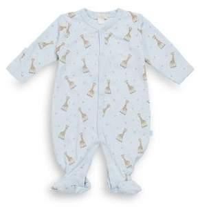 Kissy Kissy Baby's Giraffe-Print Pima Cotton Footie