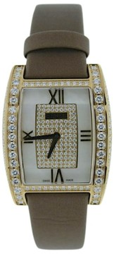 Ebel Tarawa 18K Yellow Gold Diamond Womens Watch