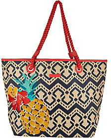 Vera Bradley As Is Straw Beach Shopper - ONE COLOR - STYLE