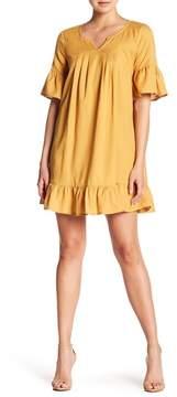 Bobeau Ruffle Gauze Woven Dress
