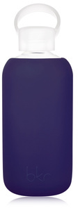 BKR Glass Bottle and Silicone Sleeve - Boss - opaque purplish navy