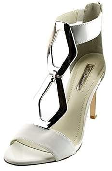 BCBGMAXAZRIA Bcbgeneration Cayce Women Open Toe Patent Leather White Sandals.