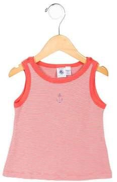 Petit Bateau Girls' Sleeveless Striped Top