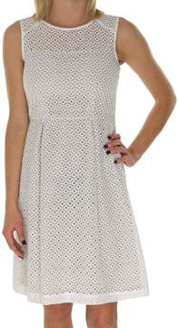 Calvin Klein Women's Embroidered Eyelet Organza Dress