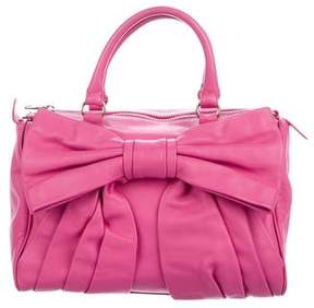 RED Valentino Leather Bow Satchel