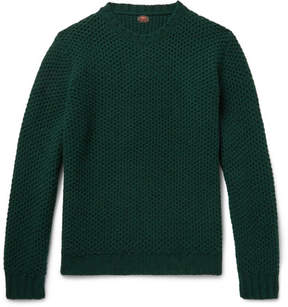 Piombo MP Massimo Honeycomb-Knit Wool Sweater