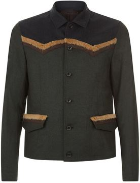 Kolor Faux Fur Trim Jacket